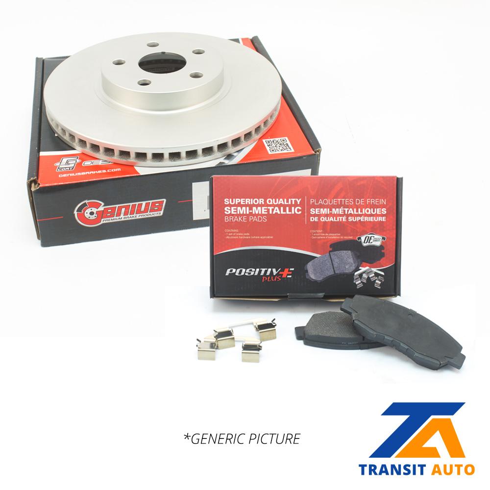 Front Semi Metallic Brake Pads /& Coated Disc Rotors Fits Hyundai Kia