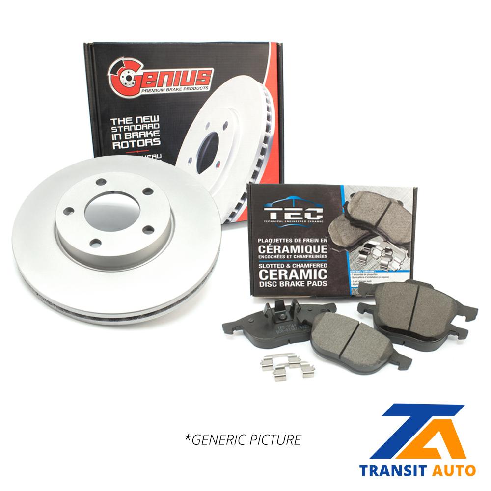 Front Coated Disc Rotors /& Ceramic Brake Pads Fit Altima FX35 FX45 Maxima Murano