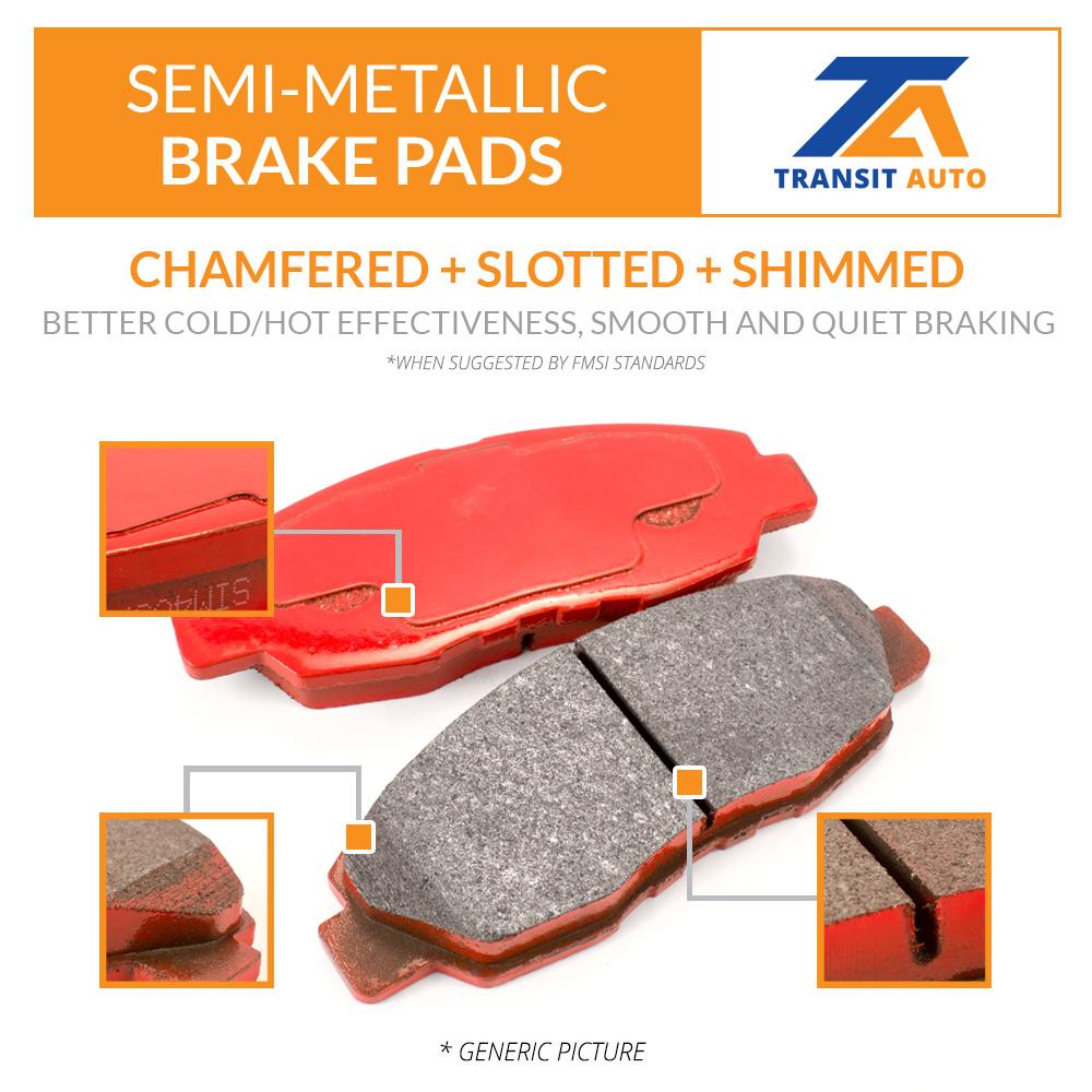 Front Rear Coated Disc Rotors /& Semi-Metallic Brake Pads Fits BMW X5