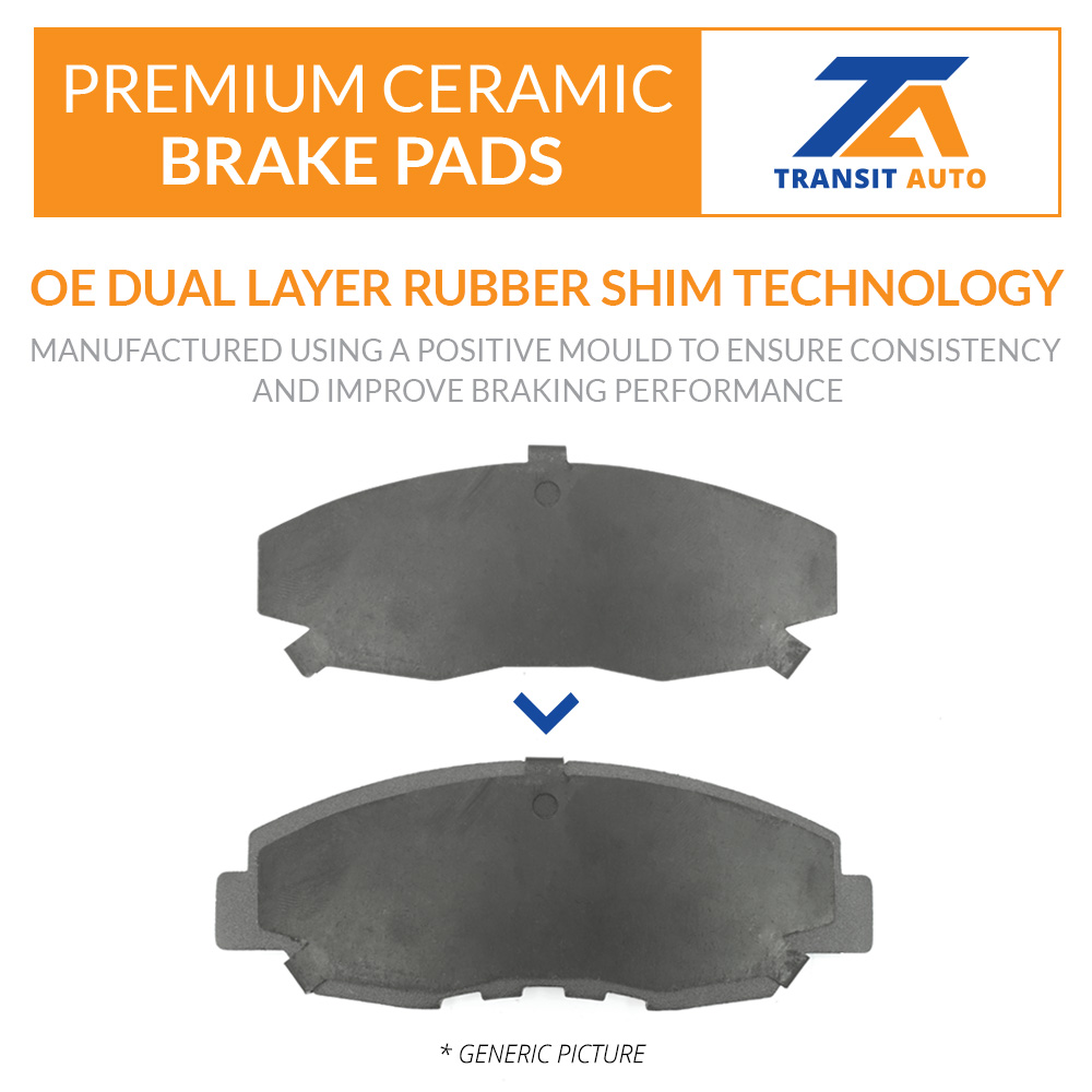 Front Coated Disc Rotors /& Ceramic Brake Pads Fits Ford Lincoln Fusion MKZ
