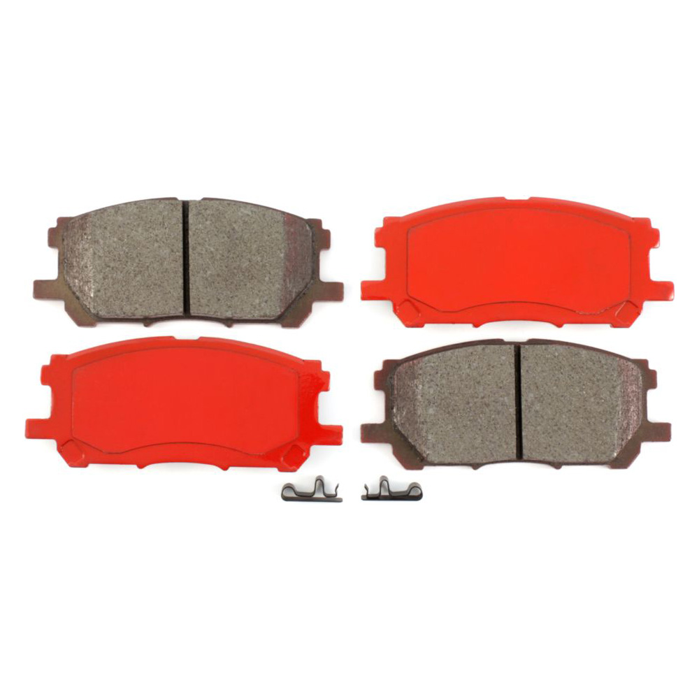 Front Coated Disc Rotors /& Semi-Metallic Brake Pads Fits Lexus RX330 RX350